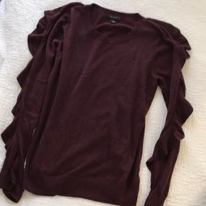 Maroon Ruffled Sleeve Sweater from Nordstrom
